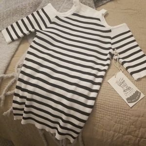 Brand new cold shoulder sweater